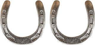 Set of 2 Western Horseshoe Drawer Pulls Cabinet Knobs - Old Silver - 2