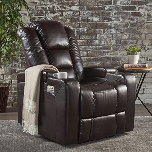 Christopher Knight Home Emersyn Tufted Fabric Power Recliner
