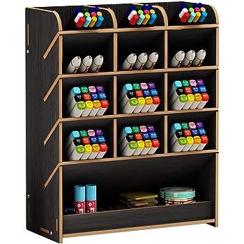 ufficio e scuola Cherry Wood portapenne per casa cancelleria scrivania Organizer da scrivania in legno multifunzionale per cassetti