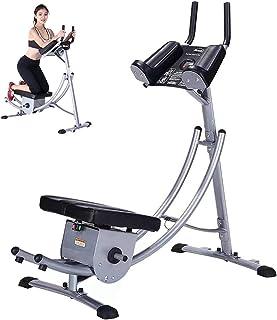 M.XIAO Abdominal Crunch Coaster Fitnessutrustning, Rotary Kneel Pad Design, AB Coaster med LCD Visar tillgängliga för kont...