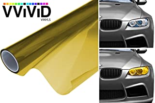 VViViD Air-Tint Golden Yellow Headlight/Tail Light Window Tint (12 Inch x 24 Inch roll x2)
