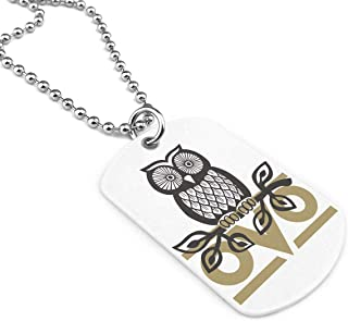 OVO Owl Military Brand Necklace Dog Tag Stainless Steel Chain Pendant Keyring