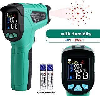 Infrared Thermometer, ELECALL Non-Contact Digital Laser Indication Temperature Gun -58℉~1022℉(-50℃~550℃) with Color LCD Display Adjustable Emissivity, for Automotive Industrial Kitchen