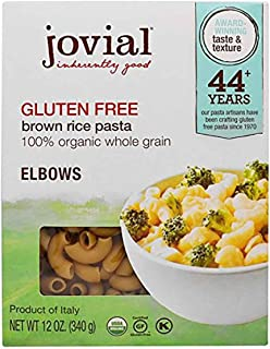 Jovial Pasta,Og1,Brown Rice Elb 12 Oz (Pack of 12)