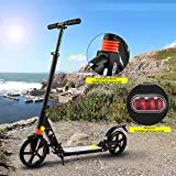 Laiozyen Big Wheel Scooter - City Scooter, Klappbarer City-Roller, höhenverstellbar, Tret-Roller für Erwachsene und Kinder Bis 100kg (Color1)