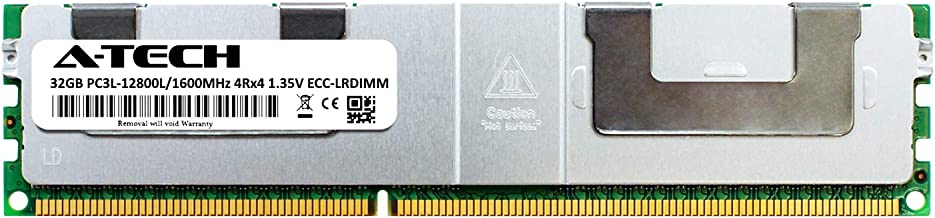A-Tech 32GB Module for ASUS Z9 Server Board Z9PA-D8 DDR3 ECC Load Reduced LR DIMM PC3-12800 1600Mhz 4rx4 1.35v Server Memory Ram