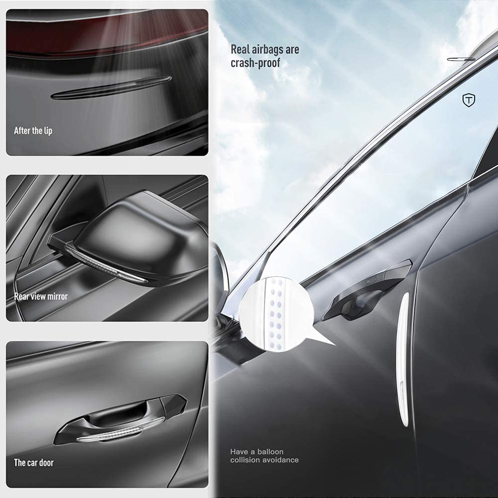 Transparent color Anti-Scratch 4 Pcs Airbag Car Door Edge Protection Strips Front and Rear Car Door Bumper Guard Protector With Anti-Collision Car Door Protector Strips