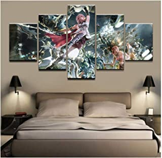 HNFSSK Canvas Painting Home Decor Poster Hd Pictures Prints Canvas 5 Piece Modular Final Fantasy Xv Game Living Room Decorative Cartoon Painting-SIZE3