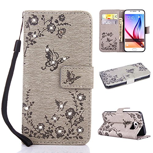 Ultra Mince Luxe Bling Glitter Sparkle Éclatant Strass Diamant Butterfly Motif Dragonne Stand Bookstyle Folio PU Cuir Leather Flip Magnétique Cartes Slot Housse Coque pour Huawei Mate 20