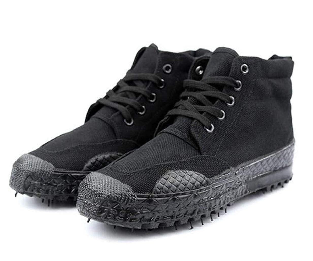 オーブン息切れペレット黒のトレーニングシューズは、労働保険の黄色いボールの靴特別なトレーニングのゴム製の靴を働くのを助けるために高い解放の靴は軍事訓練や他の野外活動として使用することができます (Color : Black, Size : 39)