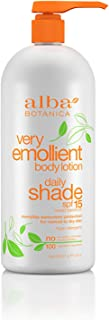 Alba Botanica Very Emollient Body Lotion, Daily Shade SPF 15, 32 Oz