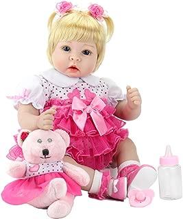Aori Lifelike Reborn Baby Girl Dolls Handmade 22 Inch Soft Vinyl Reborn Toddler Gift Set for Girls Age 3+