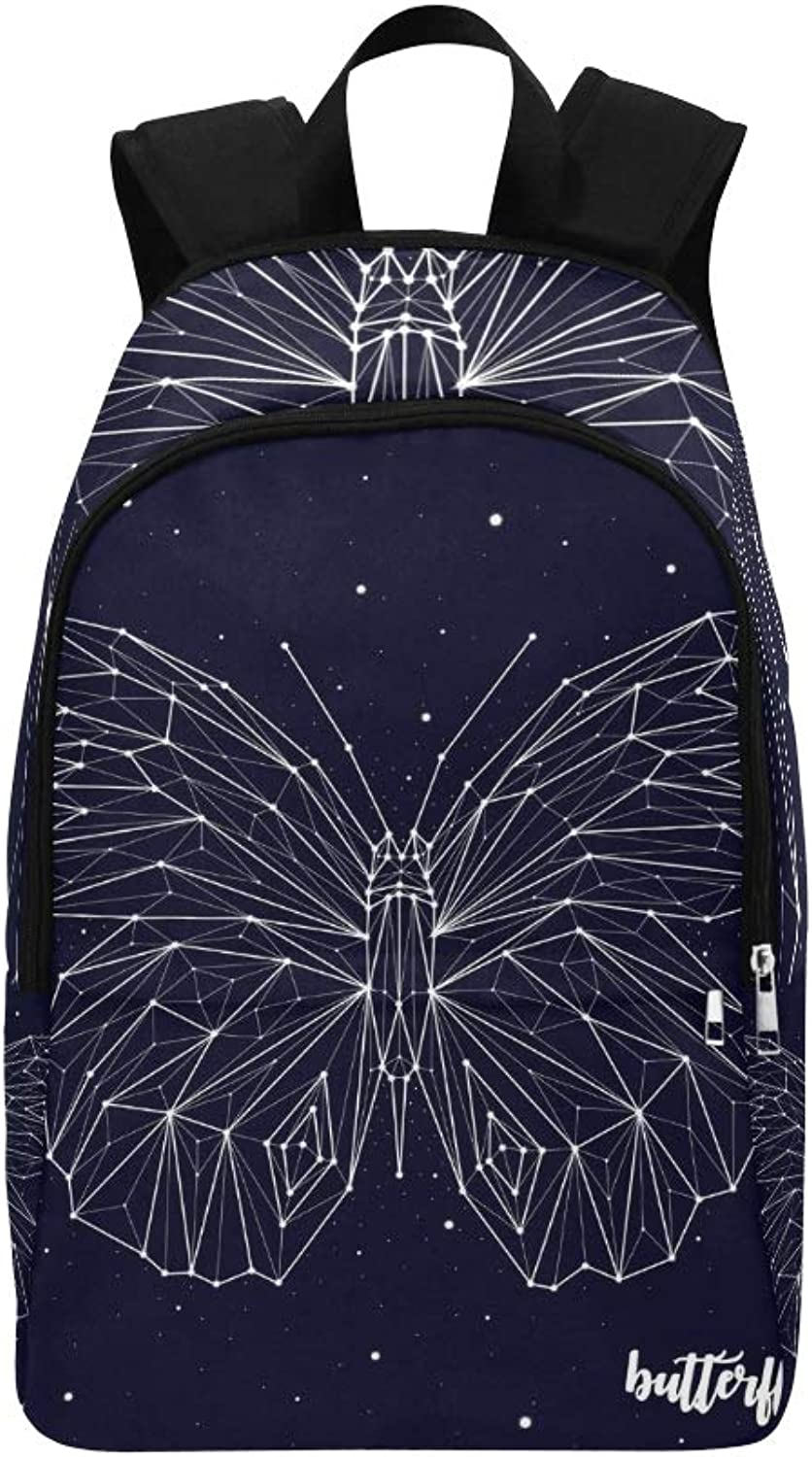 Butterfly Constellation Casual Daypack Travel Bag College School Backpack for Mens and Women