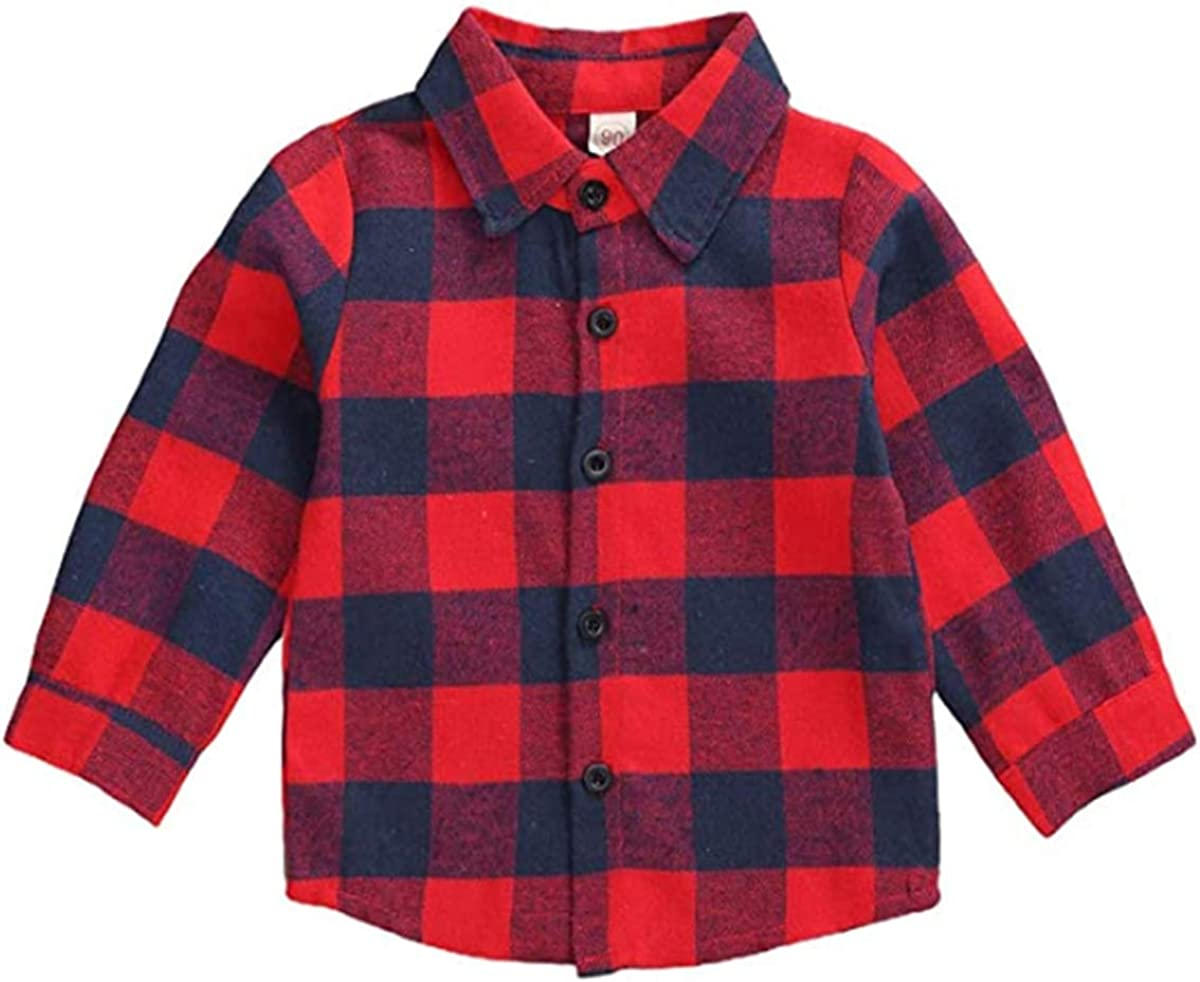 Toddler Super popular specialty store Baby Max 44% OFF Girls Boys Christmas Long Kids Blouse Sleeve Little