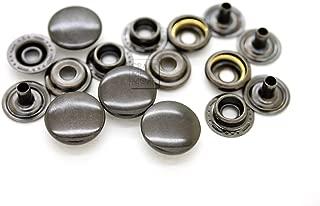 CRAFTMEmore 50 Pack Gun Metal Black Snap Fasteners Ring-Socket Press Studs Jacket Bag Canvas Closures (15mm (0.59
