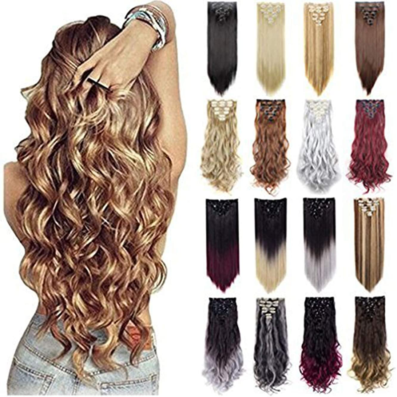 Grade 7A 160g 23-24 Inch Real Thick Double Weft Clip In Hair Extensions