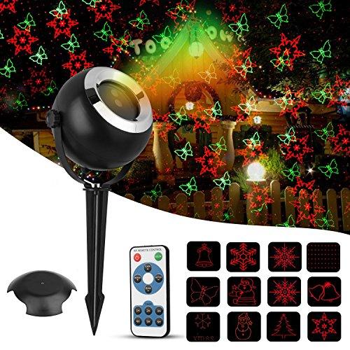Proiettore luci natale esterno,Rottay(2018Nuova Versione)|Proiettore Luce Natale| LED Proiettore | Proiettore luci natalizie |Decorazione Natalizia da Giardino