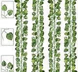 Boic Plante Artificielle, 12 Pièces 6.5 Ft Llierre Artificielle Exterieur Guirlande, Mur Vegetal Artificiel Vigne Décoration pour Mariage, Célébration, Fête, Cuisine, Jardin, Bureau