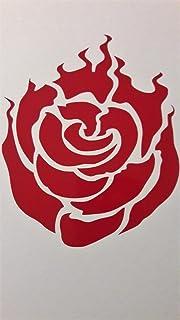 ملصق من الفينيل بتصميم Chase Grace Studio RWBY Anime Ruby Rose | أحمر | شاحنات Vans SUV - لوحة فنية جدارية على شكل شاحنات...