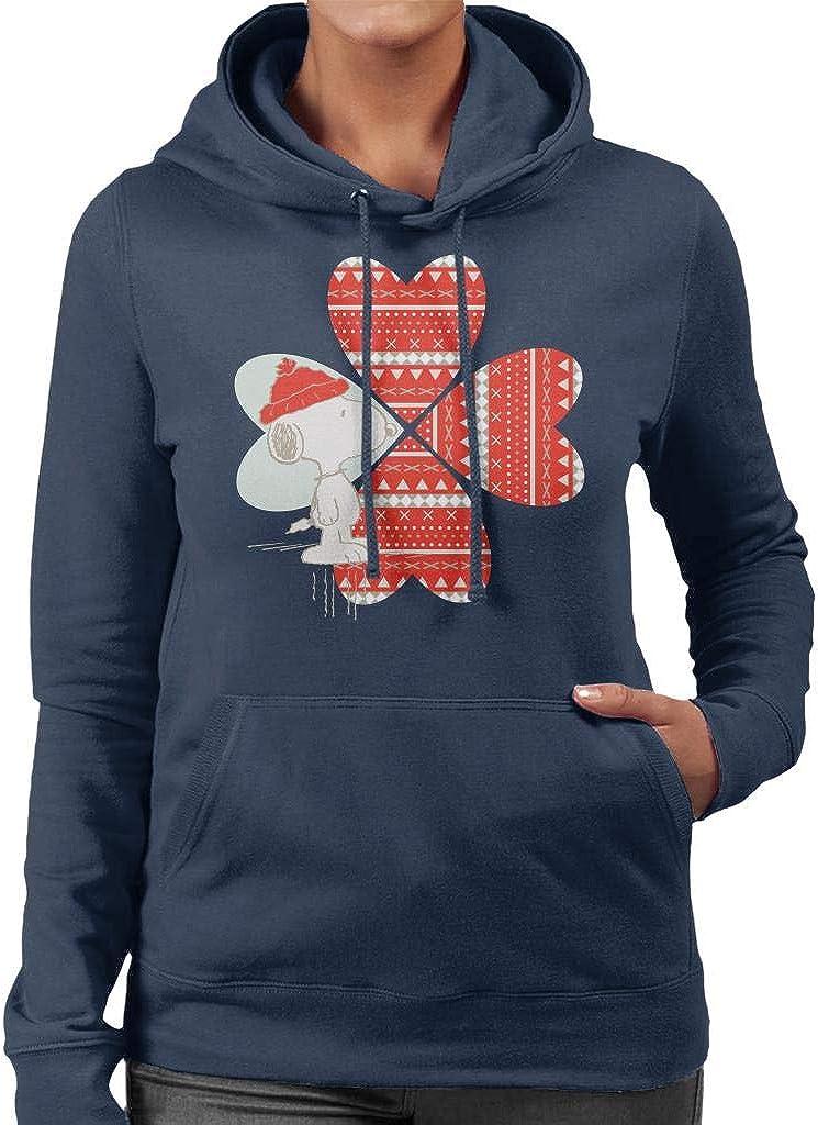 mart Mail order Peanuts Snoopy Red Hat Hooded Women's Sweatshirt Design