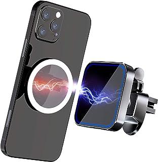 Gahwa Magnetische draadloze autolader met magneetpleister, draadloze oplader voor Mag-Safe autohouder, compatibel met iPho...