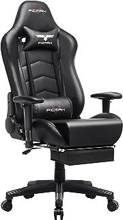 Ficmax Silla ergonómica para Juegos Silla para computadora con Masaje de Soporte Lumbar, sillas de Juego para E-Sports par...