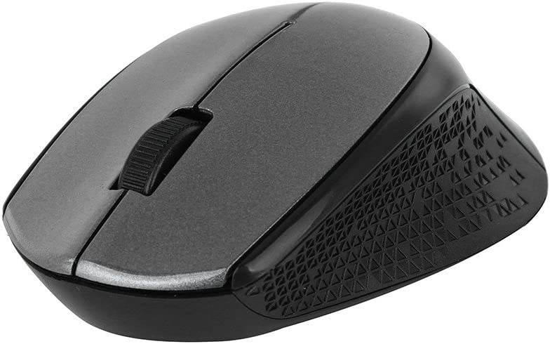BINGFEI Silent 2.4GHz Air Wireless Mouse Optical MouseMice USB 2.0 Receiver for Laptop,Black