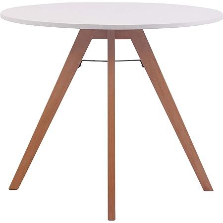 Table Ronde de Cuisine Viktor - Table de Salle à Manger avec Plateau en MDF - Table de Bistro Pieds en Bois de Chêne - Taille :, Taille:90 cm