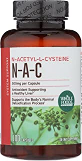 Whole Foods Market, N-A-C N-Acetyl-L-Cysteine 500mg, 100 ct