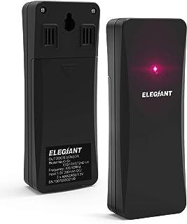 ELEGIANT utomhussensor utomhus sändare för väderstation, 2 delar, svart