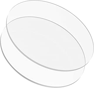 10.25 inch Buttercream Acrylic Round Cake Disks Set of 2 (0.18 or 3/16 inch thick) - Great for Serving Bake Goods and Art Craft Project