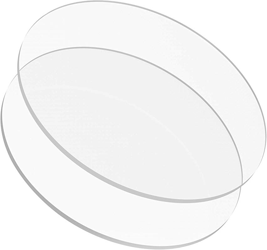 6 Buttercream Acrylic Round Cake Disks Set Of 2 0 18 Or 3 16 Thick Great For Serving Bake Goods And Art Craft Project