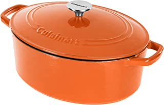 Cuisinart Cast Iron Casserole, Terracotta Orange, 5.5 Quart