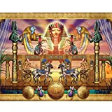 YUMEART Handicrafts 5D Diamond Embroidery Avatar Egyptian Horses DIY Diamond Painting Full Square Mosaic Cross Stitch Crafts