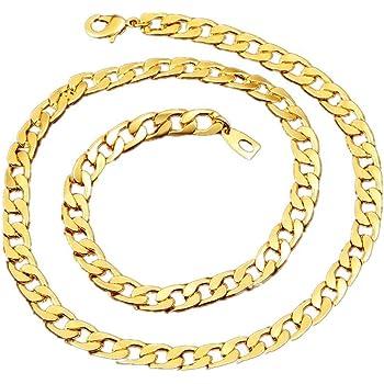 BoomYou Gefälschte Goldkette Halskette 18 Karat Faux Gold