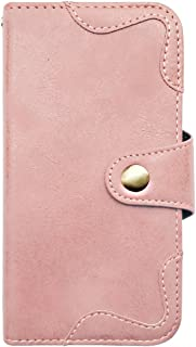 sslink OPPO R15 Neo 手帳型 スマホ ケース アンティーク調 (ピンク) ヴィンテージ ビンテージ PUレザー 合皮 ダイアリータイプ 横開き カード収納 フリップ カバー
