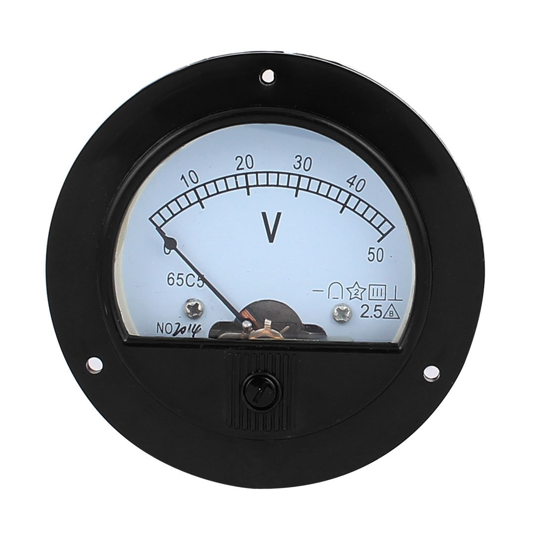 uxcell DC 50V Analog Panel Measuring Free shipping on 100% quality warranty! posting reviews Met Gauge 2.5 Voltage Class