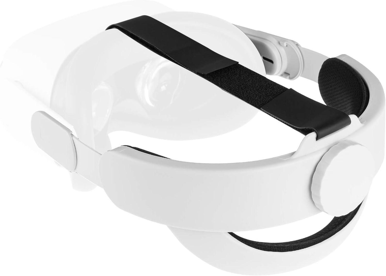 NEWZEROL Almohadilla para la cabeza compatible con Oculus Quest 2 [Soporte mejorado]Reducción ajustable de la presión de la cabeza, Accesorios de realidad virtual cómodos, Reemplazo para correa Elite