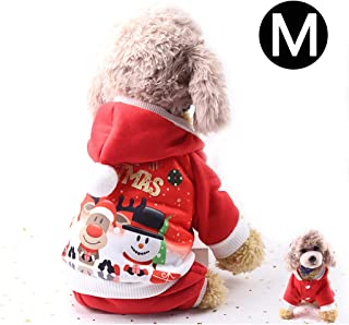 Aprobu Santa Dog Costume Christmas Pet Clothes Winter Hoodie Coat Clothes Pet Clothing for Small Dogs & Cats Winter Coat Warm Clothes Christmas Holiday Apparel Outfit