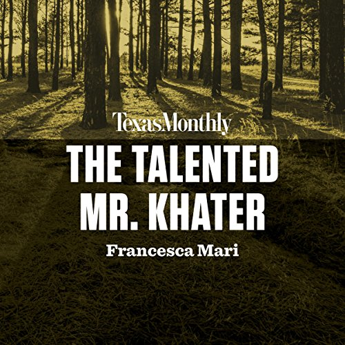 The Talented Mr. Khater audiobook cover art