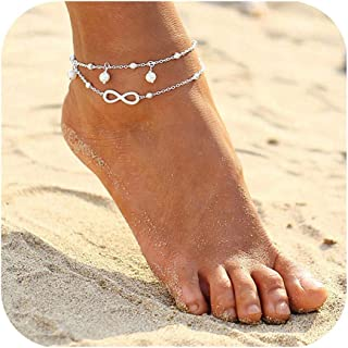 Foot Chain Boho Beach Jewelry Layer Anklet for Women Adjustable Anklet