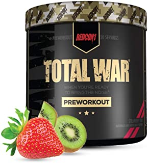 Redcon1 - Total War Preworkout Powder - Strawberry Kiwi - 30 Servings - Insane Energy, Laserlike Focus, Insane Endurance