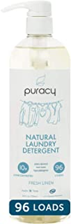 Puracy Natural Liquid Laundry Detergent, Hypoallergenic, Enzyme-Based, Fresh Linen, 24 Ounce (96 Loads)
