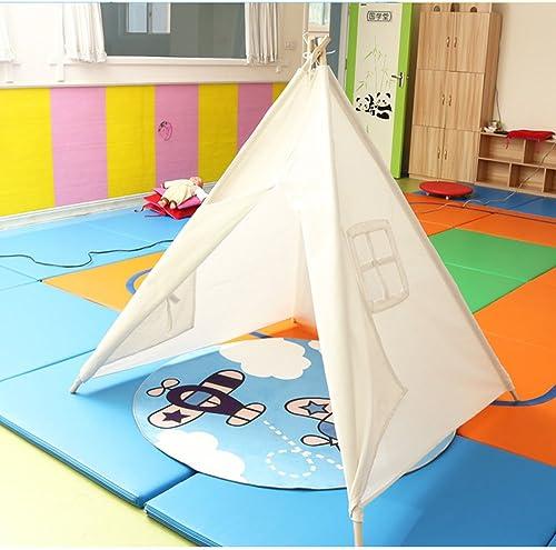 Enfants Tente Indienne Tente Coton Tissu Intérieur Jardin Terrain Jouet Tente Riz Blanc Couleur Tache de Motif, (à l'exclusion des Accessoires) (Couleur    C)