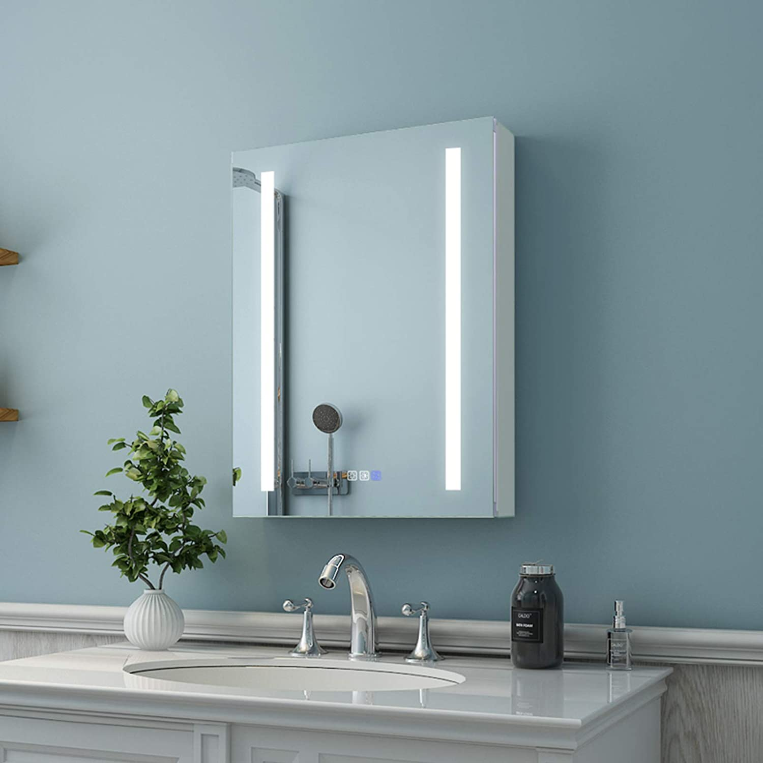 ES-DIY LED Long-awaited Lighted Bathroom Medicine Cabinet New color 20 x with 2 Mirror