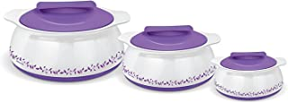 Milton 3-Pc Gift Set - Exotique Insulated Hot-pot Food Server Casserole Set with Stainless Steel Insert Keeps Food Warm/cold for Hours