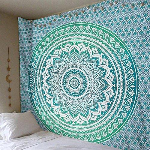 WERT Mandala Tapiz Indio Colgante de Pared Playa Bohemia Manta Fina decoración del hogar Tapiz de Tela de Fondo A5 73x95cm