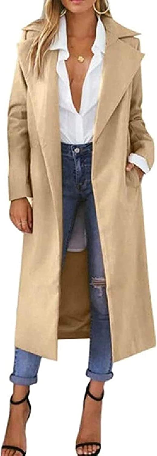 Womens Loose price Fit Lapel Thicken Mid Pea Blend Trench Wool Ranking TOP16 Length