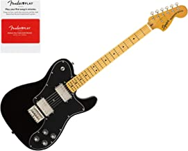 Squier 0374060506 Classic Vibe 70s Telecaster Deluxe, Maple Fingerboard, Black