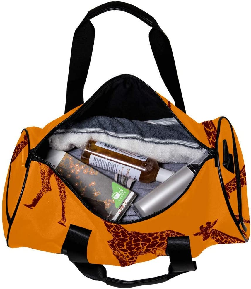 imobaby Duffel Gym Bag Cute Panda Sports Travel Shoulder Bags Tote for Men and Women